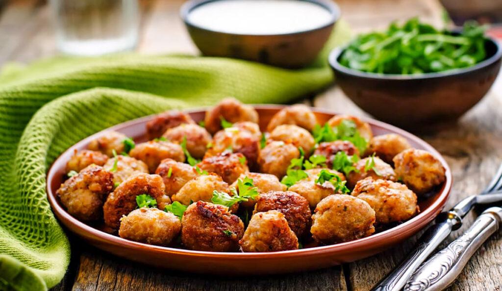 receta: albóndigas de berenjena al horno